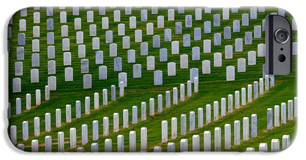 Cemetary iPhone Cases - San Diego Military Memorial 2 iPhone Case by Bob Christopher