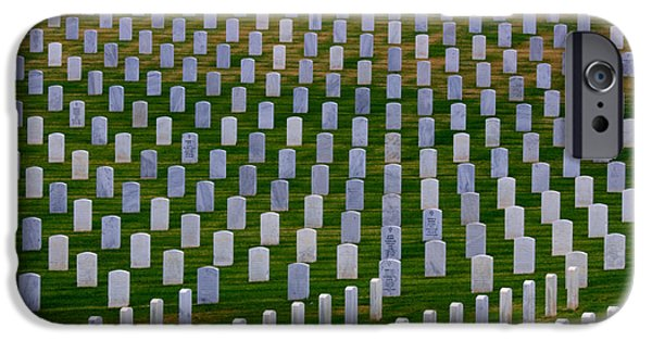 Cemetary iPhone Cases - San Diego Military Memorial 3 iPhone Case by Bob Christopher