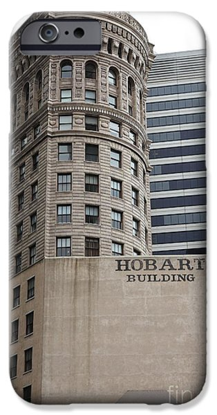 Hobart iPhone Cases - San Francisco - Hobart Building on Market Street - 5D17870 iPhone Case by Wingsdomain Art and Photography