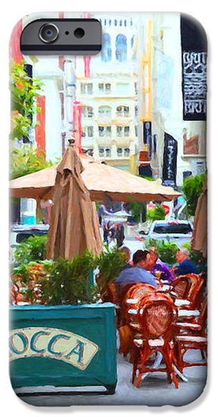 San Francisco - Maiden Lane - Outdoor Lunch at Mocca Cafe - 5D17932 - Painterly iPhone Case by Wingsdomain Art and Photography