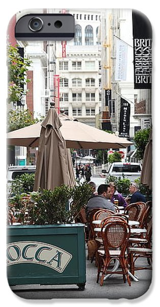 San Francisco - Maiden Lane - Outdoor Lunch at Mocca Cafe - 5D17932 iPhone Case by Wingsdomain Art and Photography