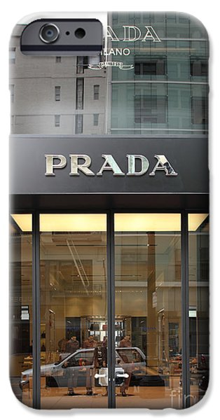 San Francisco - Maiden Lane - Prada Fashion Store - 5D17798 iPhone Case by Wingsdomain Art and Photography