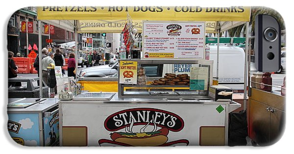 Stockton iPhone Cases - San Francisco - Stanleys Steamers Hot Dog Stand - 5D17929 iPhone Case by Wingsdomain Art and Photography