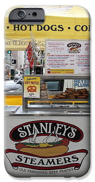 San Francisco - Stanley's Steamers Hot Dog Stand - 5D17929 iPhone Case by Wingsdomain Art and Photography