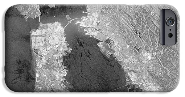 Wildlife Disasters iPhone Cases - San Francisco Bay Oil Spill iPhone Case by Nasa
