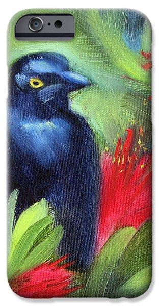 San Francisco Black Bird iPhone Case by Karin  Leonard