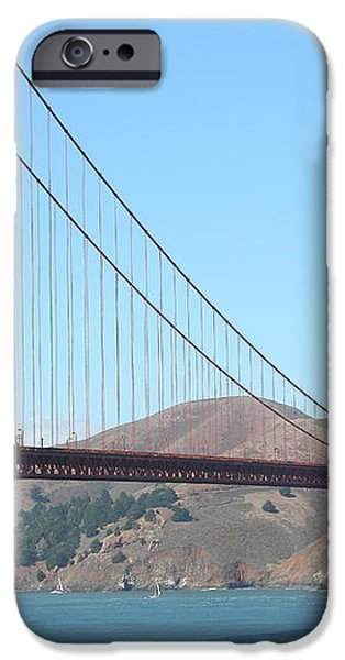 San Francisco Golden Gate Bridge . 7D7802 iPhone Case by Wingsdomain Art and Photography