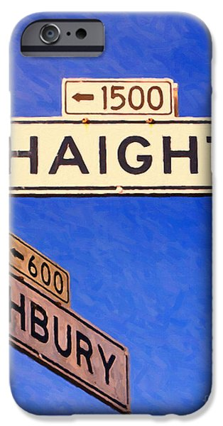 Free Speech iPhone Cases - San Francisco Haight Ashbury iPhone Case by Wingsdomain Art and Photography