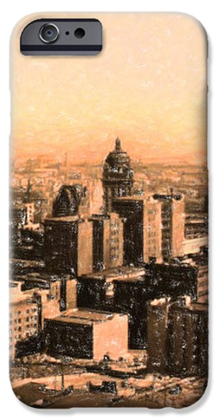 San Francisco Skyline 1909 showing South of Market Street iPhone Case by Wingsdomain Art and Photography