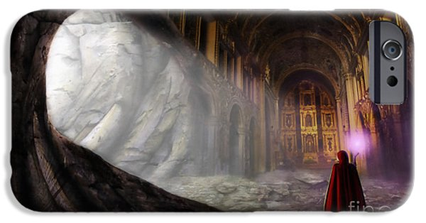 Painter Digital Art iPhone Cases - Sanctum iPhone Case by John Edwards
