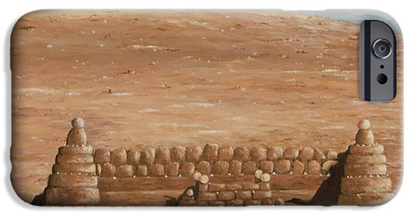 Sand Castles iPhone Cases - Sand castle at Lake Powell iPhone Case by Mary Ann King