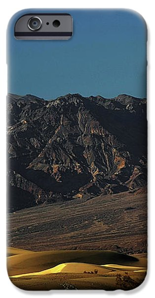 Sand Dunes - Death Valley's Gold iPhone Case by Christine Till