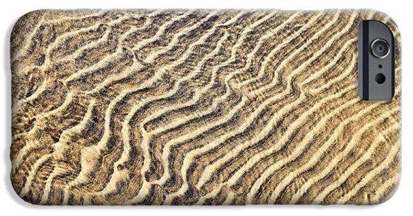 Sand Patterns iPhone Cases - Sand ripples in shallow water iPhone Case by Elena Elisseeva