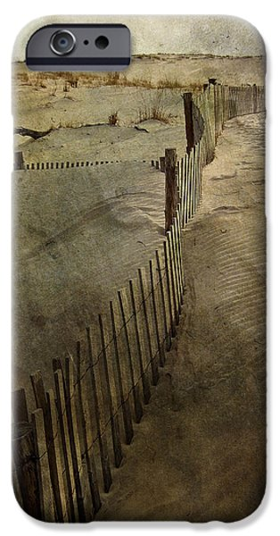 Sand Fences iPhone Cases - Sand iPhone Case by Trish Tritz