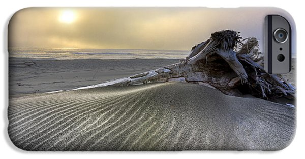 Beach Landscape iPhone Cases - Sand Wrinkles iPhone Case by Debra and Dave Vanderlaan