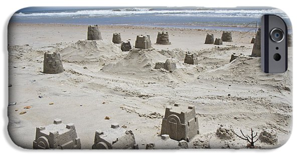 Sand Castles iPhone Cases - Sandcastle iPhone Case by Betsy A  Cutler