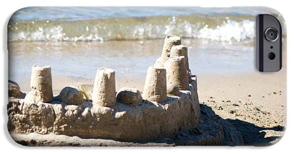 Sand Castles iPhone Cases - Sandcastle  iPhone Case by Lisa Knechtel