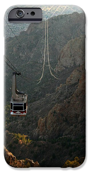 New Mexico iPhone Cases - Sandia Peak Cable Car iPhone Case by Joe Kozlowski
