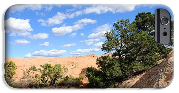 Slickrock iPhone Cases - Sandstone Sky iPhone Case by Gary Whitton