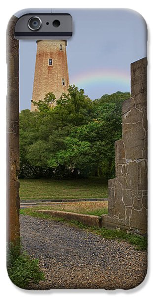 Jersey Shore iPhone Cases - Sandy Hook Lighthouse iPhone Case by Susan Candelario
