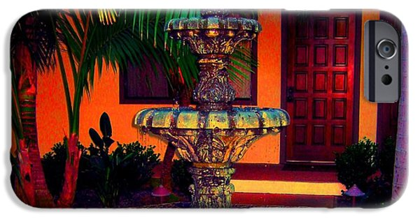 Ann Johndro-collins iPhone Cases - Santa Barbara Fountain iPhone Case by Ann Johndro-Collins