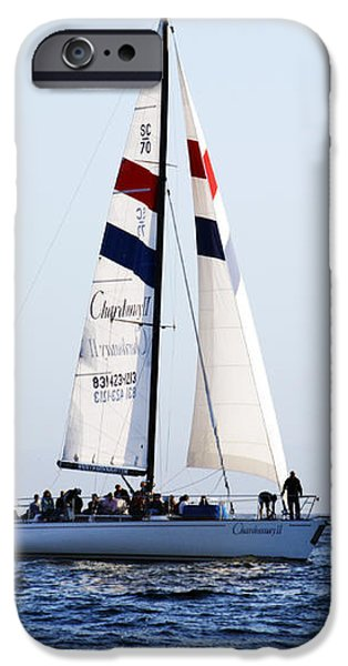 Santa Cruz Sailing iPhone Case by Marilyn Hunt