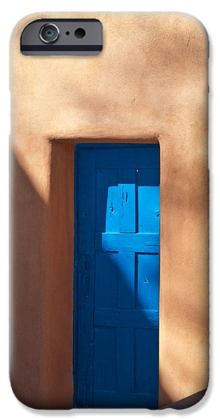 Santa iPhone Cases - Santa Fe Portal iPhone Case by Steve Gadomski