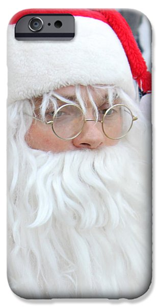 Santa in Bethlehem March for Peace and Unity iPhone Case by Munir Alawi
