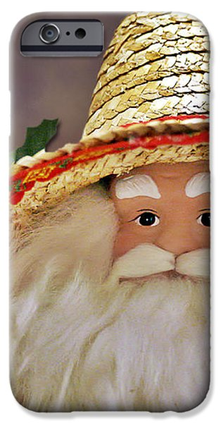 Santa is a gardener iPhone Case by Christine Till