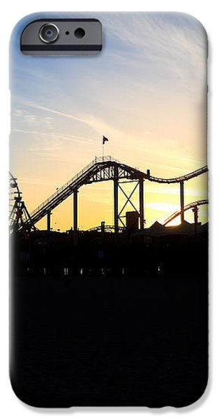 Santa Monica Pier Sunset Photo iPhone Case by Paul Velgos