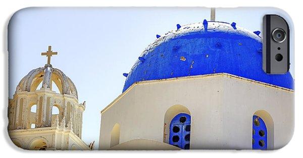 Religious Photographs iPhone Cases - Santorini iPhone Case by Joana Kruse
