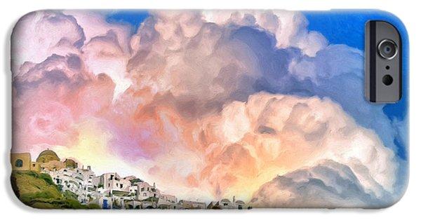 Delos iPhone Cases - Santorini Sunrise iPhone Case by Dominic Piperata