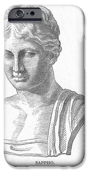 7th iPhone Cases - SAPPHO (fl. c600 B.C.) iPhone Case by Granger