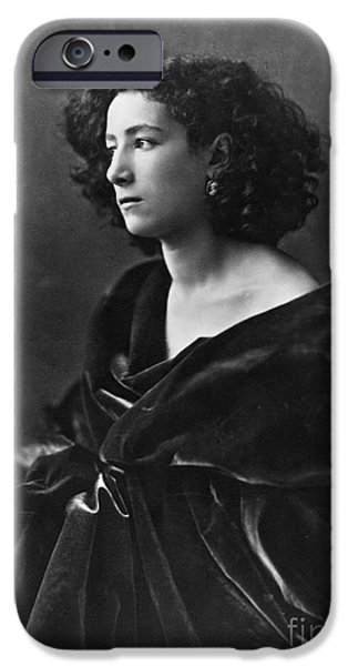 Figure iPhone Cases - Sarah Bernhardt, French Actress iPhone Case by Photo Researchers