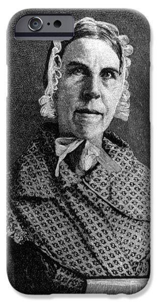 Abolition Movement iPhone Cases - Sarah Moore Grimké, American iPhone Case by Photo Researchers