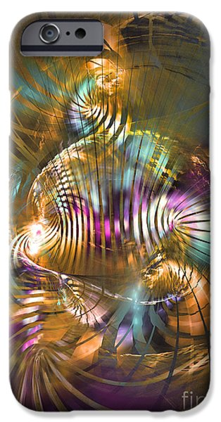 Colorful Abstract Algorithmic Contemporary iPhone Cases - Sat sapienti iPhone Case by Sipo Liimatainen