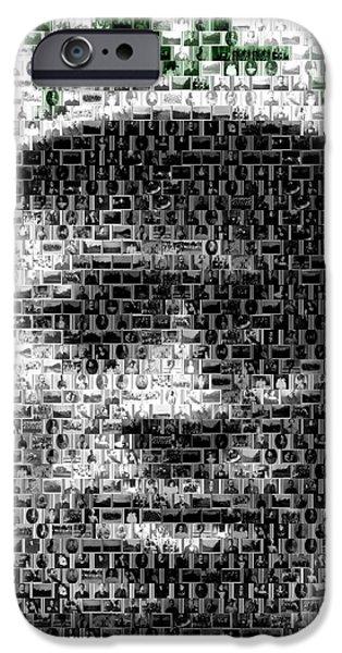 Satchel Paige KC Monarchs African American Mosaic iPhone Case by Paul Van Scott