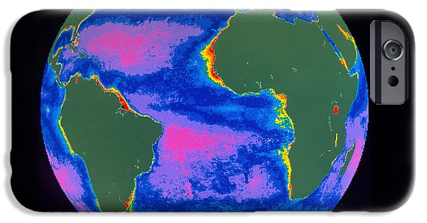 Algal Photographs iPhone Cases - Satellite Image Of The Atlantic Ocean iPhone Case by Dr. Gene Feldman, NASA Goddard Space Flight Center