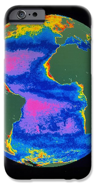 Satellite Image Of The Atlantic Ocean iPhone Case by Dr. Gene Feldman, NASA Goddard Space Flight Center
