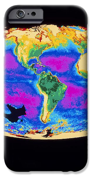 Satellite Image Of The Earth's Biosphere iPhone Case by Dr Gene Feldman, Nasa Gsfc