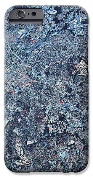 Satellite View Of Charlotte, North iPhone Case by Stocktrek Images