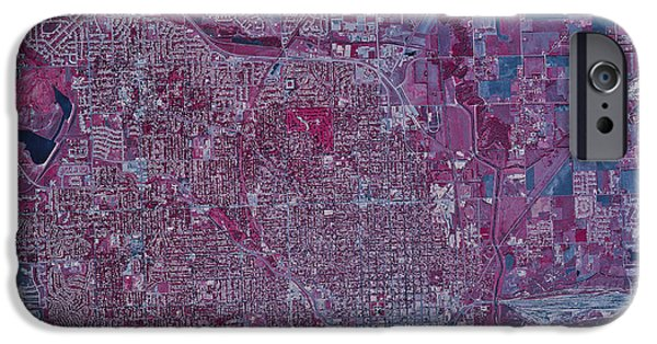 Nebraska iPhone Cases - Satellite View Of Lincoln, Nebraska iPhone Case by Stocktrek Images