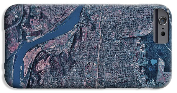 Arkansas iPhone Cases - Satellite View Of Little Rock, Arkansas iPhone Case by Stocktrek Images
