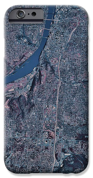 Satellite View Of Little Rock, Arkansas iPhone Case by Stocktrek Images