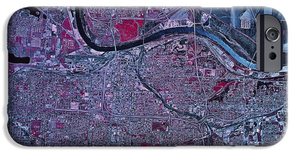 Nebraska iPhone Cases - Satellite View Of Omaha, Nebraska iPhone Case by Stocktrek Images