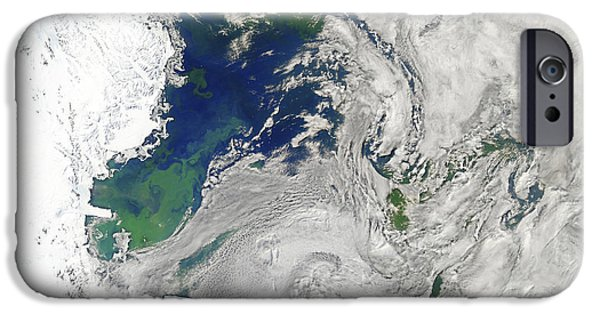 Phytoplankton iPhone Cases - Satellite View Of The Ross Sea iPhone Case by Stocktrek Images