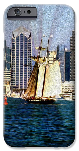 Saturday in San Diego Bay iPhone Case by Cheryl Young