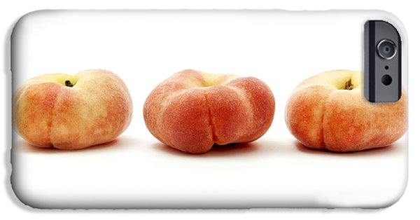 Cut-outs iPhone Cases - Saturn peaches  iPhone Case by Fabrizio Troiani
