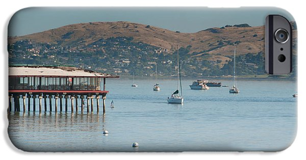 Sausalito Digital iPhone Cases - Sausalito Harbour iPhone Case by Carol Ailles