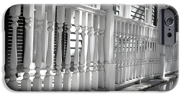 Recently Sold -  - The White House Photographs iPhone Cases - Savannah Balustrade - Black and White iPhone Case by Carol Groenen
